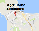 Map for Agar House Llandudno